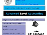 ACCOUNTING /ADVANCED ACCOUNTING